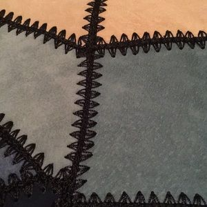 Zara Skirts - Zara Blue Sued Patchwork Skirt NWOT